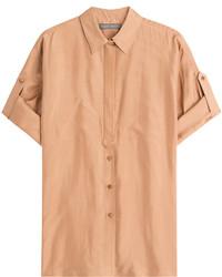 Alberta Ferretti Cuffed Silk Shirt
