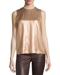 Laminated silk sleeveless top medium 3675259