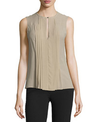 South port sleeveless silk top light khaki medium 832090