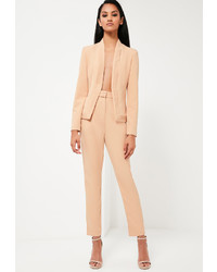 Missguided Nude Tailored Skinny Pants