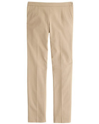 Tall martie slim crop pant in stretch cotton with side zip medium 367841