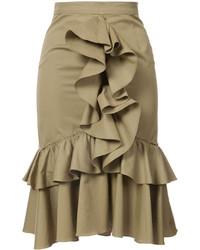 Tome Ruffled Midi Skirt
