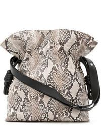 Loewe Flaco Knot Python Bucket Bag