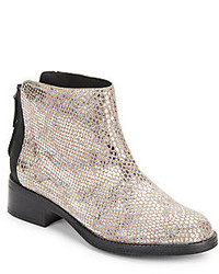 Pod pie snake embossed leather ankle boots medium 166290