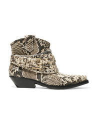 Zimmermann Snake Effect Leather Ankle Boots