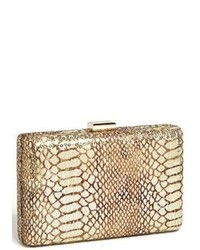 Tan Snake Leather Clutch