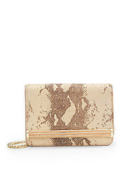 Snake embossed leather mini shoulder bag medium 225861
