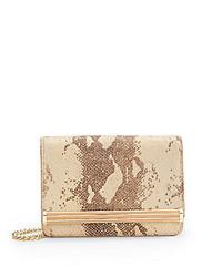 Snake embossed leather mini shoulder bag medium 225861