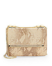 Snake embossed leather shoulder bag medium 225865
