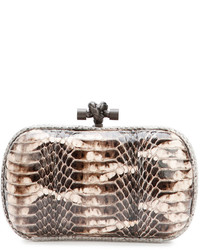 Snakeskin knot minaudiere tan multi medium 338874