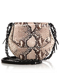 Tan Snake Leather Crossbody Bag
