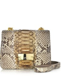 Brown python mini crossbody bag medium 339017