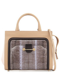 Jason Wu Daphne Watersnake Leather Crossbody Tote Bag Glass