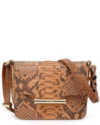 Jason Wu Diane Mini Flap Python Crossbody Bag Natural