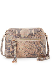 Foley + Corinna Emma Snake Embossed Leather Crossbody Bag Crush Snake