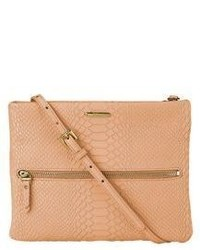 GiGi New York Python Embossed Leather Crossbody Bag