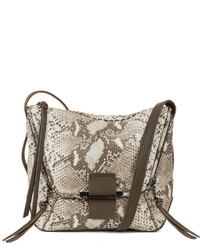 Kooba Gwenyth Snake Print Leather Crossbody Bag Natural