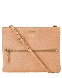 GiGi New York Personalized Python Embossed Leather Crossbody Bag