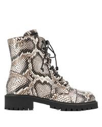 Giuseppe Zanotti Snakeskin Effect Boots