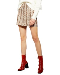 Topshop Dixie Faux Leather Miniskirt