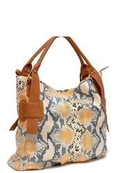 Dasein Fashion Embossed Leather Like Tote Bag Handbag