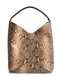 Dries Van Noten Leather Hobo Bag