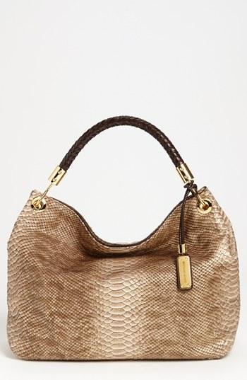 Switzerland Michael Kors Skorpios Totes - Women Tan Snake Leather Tote Bag Shop Michael Kors Michl Kors Skorpios Python Print Shoulder Bag 108885