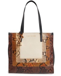 Marc Jacobs The Snake Grind Leather Tote Brown