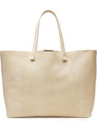Victoria Beckham Simple Shopper Python Leather Tote
