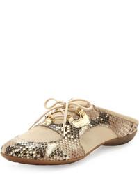 Sesto Meucci Briony Snake Print Sneaker Mule Sand