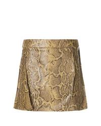 Chloé Snake Print Mini Skirt