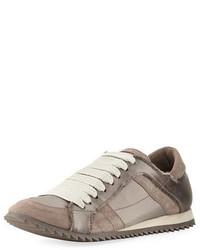 Pedro Garcia Cristina Satin Lace Up Trainer Sneaker