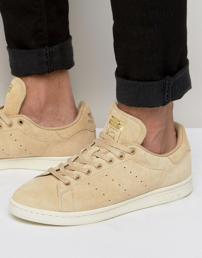 finest selection 4ec19 afdfc $54, adidas Originals Stan Smith Sneakers In Beige Bb0039