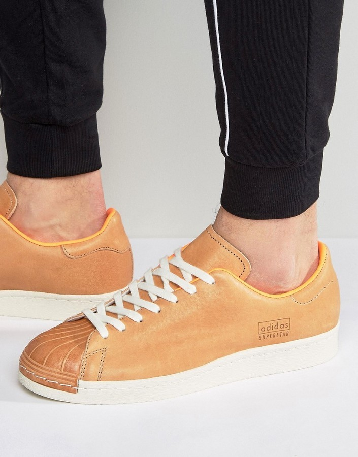 Adidas Originals Superstar 80s Clean Sneakers In In In Tan Ba7767   Where ... 278a20