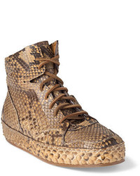 Ralph Lauren Siana Python Sneaker