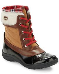 Anne Klein Grania Faux Fur Trimmed Snow Boots