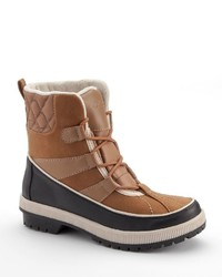 Totes Laurie Quilted Lace Up Waterproof Winter Boots