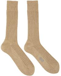 Tom Ford Brown Rib Socks