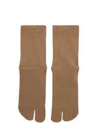 Maison Margiela Tan Gauge 12 Jersey Socks