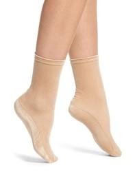 Nordstrom Velvet High Shine Crew Socks