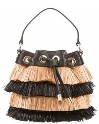 Milly Astor Straw Bucket Bag