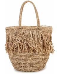 Beachgold Bali Gajih Palm Fringe Straw Capri Basket Bag