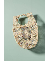 Anthropologie Birdcage Basket Bag