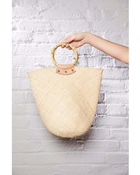 Juliet Straw Basket Tote By Beachgold At Free People