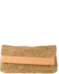 Michael Kors Michl Kors Straw Fold Over Clutch