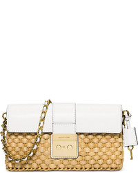 80c9c2084edde1 Women's Tan Straw Clutches by MICHAEL Michael Kors | Women's Fashion ...