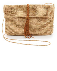Raffia clutch with braid medium 529015
