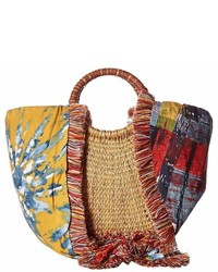 Sam Edelman Adira Straw Basket W Shoulder Scarf Strap Handbags