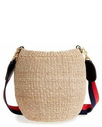 Clare v pot de miel top handle straw basket bag medium 6988390