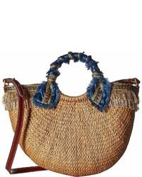 Sam Edelman Lianna Metallic Fringed Straw Tote Tote Handbags